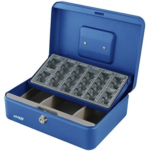 HMF 10022-05 Geldkassette Geldzählkassette 25 x 18 x 9 cm , blau