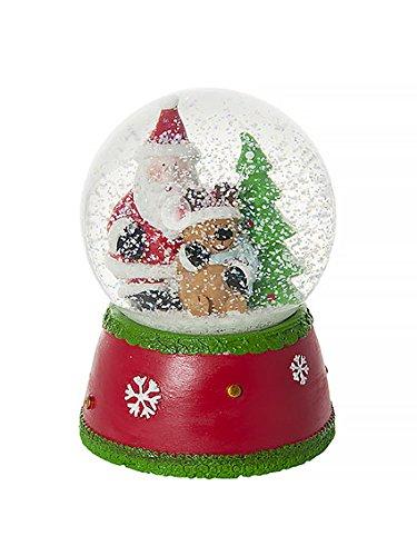 Boule à neige Noël musicale et décorative et Père Noël