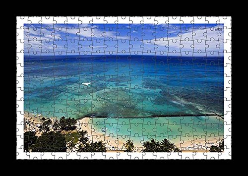 puzzle-style-pre-assembled-wall-print-of-sandy-beach-to-the-ocean-by-lisa-loft