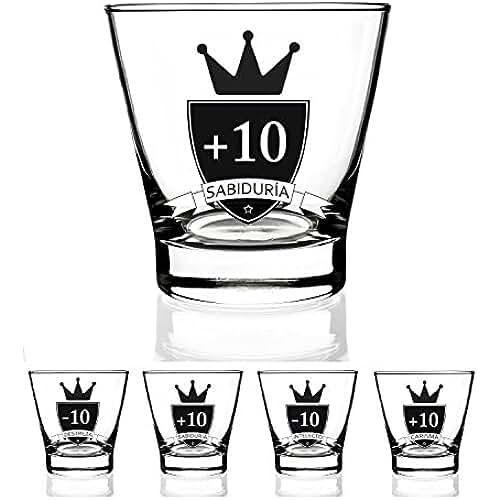 dia del orgullo friki Juego de 4 vasos chupito 9 cl. para jugar Modelo Rol