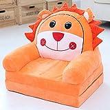 Baby kleine Sofa niedlichen Cartoon Kinder Sofa Stuhl Mini Single Baby Lazy Stuhl Kinder Stuhl Hocker (Farbe : Orange Lion)