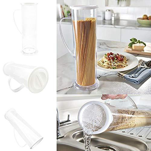 Saingace spaghetti noodle fast easy maker,pasta tube contenitore pasta contenitore goditi i tuoi cibi preferiti fuori dalla cucina