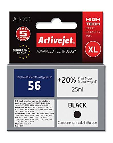 Preisvergleich Produktbild ActiveJet EXPACJAHP0009 Tinte AH-56R Refill für HP No.56, schwarz