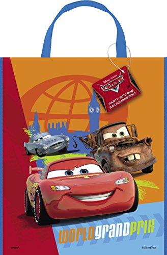 Unique Party Supplies Große Disney Cars Party Tasche, 33cm x 28cm
