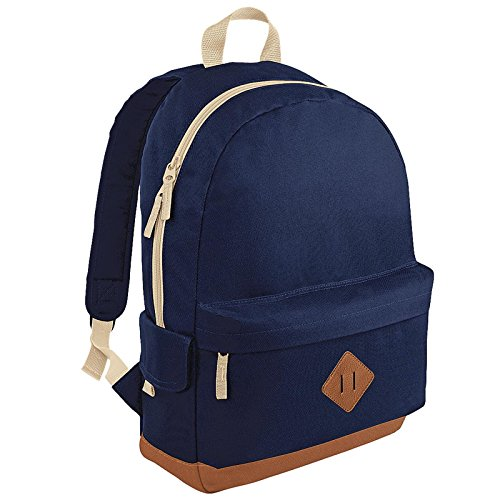 new-bagbase-heritage-retro-student-school-padded-backpack-rucksack-bag-french-navy-one-size-by-bagba