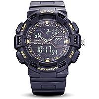 WENY Reloj de Pulsera para Hombre Reloj Inteligente Pulsera Reloj Militar Reloj Vestido Reloj Moda Reloj Deportivo Reloj Digital Alarma Calendario/Fecha/día (Color : Gold)