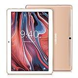 Tablet 10 Pollici BEISTA-3GB RAM,32GB ROM,3G Sim,WiFi,Corpo in metallo ultrasottile,Schermo temperato HD,Android 7.0,Quad core,Altoparlanti stereo doppio,GPS,Bluetooth-Or#