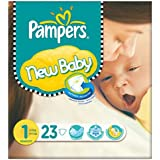Pampers New Baby Taille 1 (2-5kg) Carry Paquet 6x23-nés par paquet
