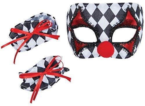 Mädchen Jungen Instant Harleqiun Clown Jester Welttag des Buches-Tage-Woche Halloween Karneval Kostüm Kleid Outfit Zubehörset Satz