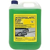 Anticongelante Puro-Concentrado Orgánico. Hasta -88ºC. Envase 5 Litros. Color Verde. Apto para circuitos cerrados/refrigeracion/calefacción.