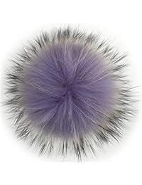 Sunonip 14-15 Centimetri Colorato Pelliccia di Procione Pompon Palle di  Pelliccia per Berretto di Lana A Maglia… 686e1b306679