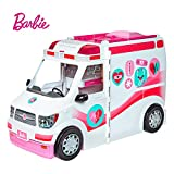 Barbie FRM19 Careers Care Clinic Ambulance, Play, Role Model, Lights and Sounds, Lots of Accessories Vehicle, Multi-Colour, 0