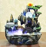 tobbrt Keramik Dekoration Rockery Brunnen Wasser Handwerk Bonsai Luftbefeuchter Heimtextilien Feng Shui Drehen Wasser Ornamente 26 * 15 * 28 cm