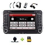 """7"""" Stereo Doppio Din Autoradio con lettore DVD per VW Golf Jetta Passat Skoda Polo Supporto GPS Navi SWC / Bluetooth / sensore di parcheggio / USB SD / Cam-in / 8GB Map carta + macchina fotografica d'inversione libero da Eincar"""