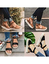 25ce6ca38e9 Voiks Sandals for Teen Girls Women Fish Mouth Platform Spring Summer Beach  High Heels Wedge Sandals Shoes…