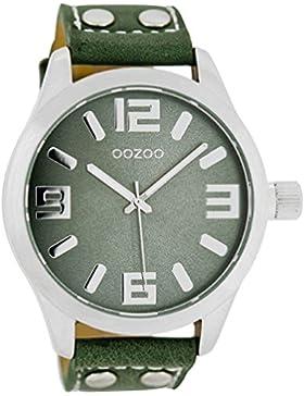 Oozoo Damenuhr mit Lederband 46 MM Tannengrün/Tannengrün C1061