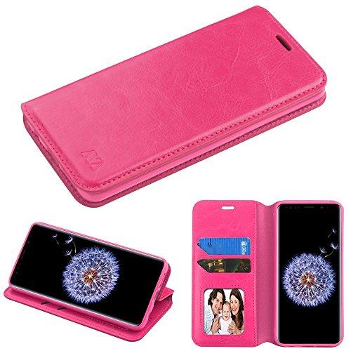 Fall + Stylus Pu Leder Wallet für Samsung Galaxy S9Plus g9640MYBAT Book MyJacket Wallet-Hot Pink Samsung Pink Transparent Faceplates