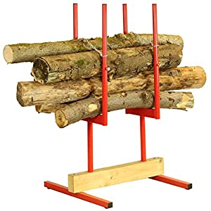 Forest Master Bulk Log Stand Saw Horse Multi-Wood Holder for Chainsaw Cutting Sawhorse