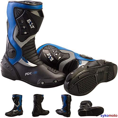 Bolt S12 Gli Sport Protezione Moto da Corsa Slider Impermeabile Blu Stivali (43 EU/9 UK)