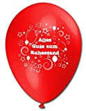 10 Luftballons Alles Gute zum Ruhestand, bunt sortierte Mischung, ca. 30 cm