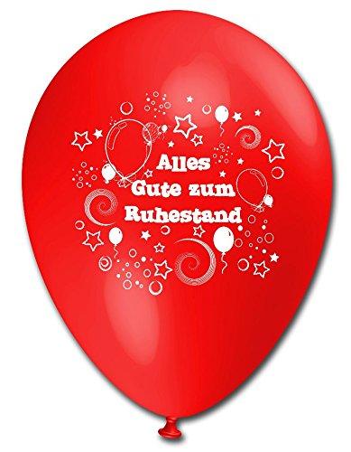 10 Luftballons Alles Gute zum Ruhestand, bunt sortierte Mischung, ca. 30 cm (Zum Verkauf Ballon)