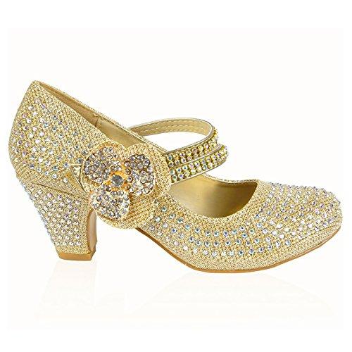 MYSHOESTORE , Mary Janes pour femme Argent argent Argent - Gold / Flower