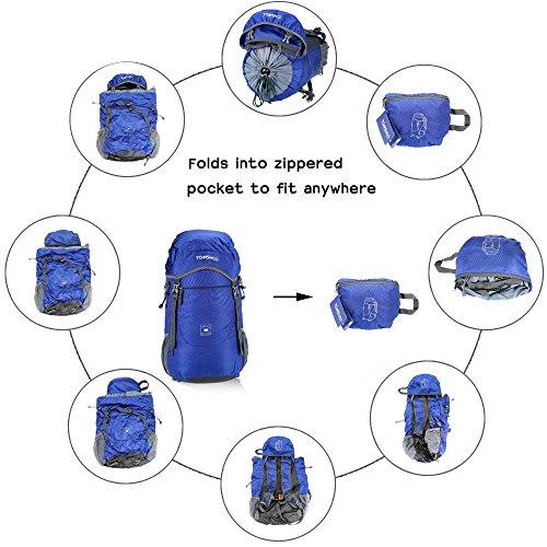Imagen de tomshoo 40l  plegable impermeable bolsa ultra ligero de nylon para viajar trekking al aire libre alternativa