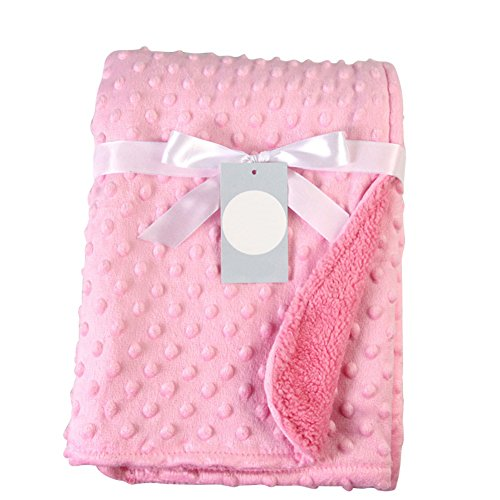 Doubleer Newborn Baby Boy Blanket Soft Fleece Thermal Blanket Baby Girls Wrapped Swaddling Bedding Set