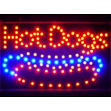 ADV PRO led084-r Hot Dogs Cafe Led Neon Sign WhiteBoard Barlicht Neonlicht Lichtwerbung