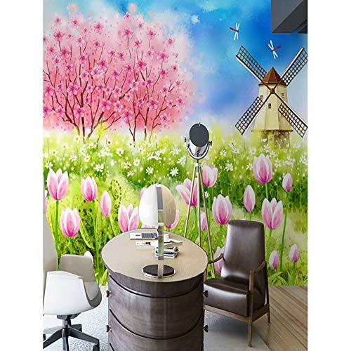 BZDHWWH Wandbild Aus Seide - Benötigt Blumen Art Deco 3D,312Cm (W) X 219Cm (H)