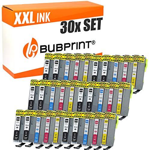 30 Bubprint Druckerpatronen kompatibel für HP 364XL für DeskJet D5460 PhotoSmart 7510 7520 e-All-in-One B8550 C5324 C5380 C6324 C6380 Premium C309g C310a C410 C410b Fax C309a -
