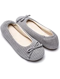 af0961819038 Cozy Niche Ladies  Comfort Stripe Knitted Ballerina Style Shoes