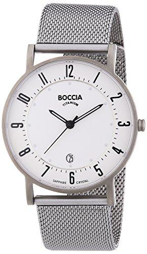 Boccia - 3533-04 - Montre Homme - Quartz Analogique - Bracelet Titane Argent