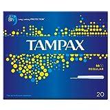 Tampax Karton Applikator Regular 20 Tampons (Packung mit 8 x 20S)