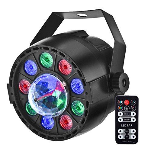 Strobe-ring-licht (LED Partylicht, Eyourlife 2in1 LED Par Discolicht Discokugel Licht DMX512 8CH RGB Lichteffekte mit Fernbedienung für Hochzeit Disco Partei DJ Club Bar KTV 12x1W LED mit EU Stecker)