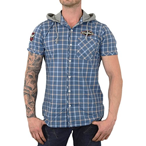 GOODYEAR -  Camicia Casual  - Uomo Blue White