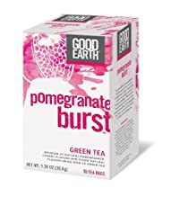 Good Earth Pomegranate Burst Green Tea, 18 Count Tea Bags (Pack of 6)