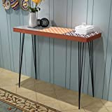 Festnight Retro Console Table Side Cabinet Dressing Table Living Room Hallway Furniture Brown