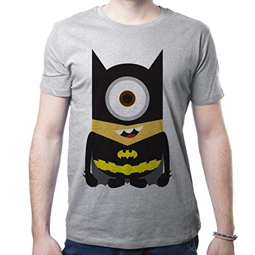 Batman Minion Happy Smiling Black Yellow XL Herren T-Shirt