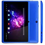 Alldaymall Tablet, A33 Quad Core ( 7 inch, 8GB Storage, Android 4.4 KitKat, Wi-Fi, Bluetooth, 3D Game, Google Play Pre-intalled ) Blue