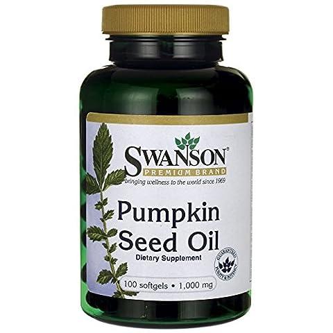 Swanson Pumpkin Seed Oil (1,000mg, 100 Softgels)