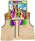 Widmann 4286I - Kinderkostümset Indianer, Weste, Kopfschmuck und Zubehör