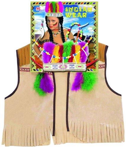Widmann 4286I - Kinderkostümset Indianer, Weste, Kopfschmuck und (Cowboy Dress Ideen Up)