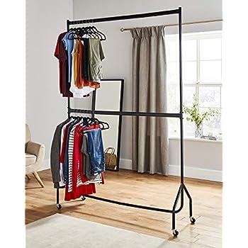 Kleiderstange/Kleiderständer, robust, zwei Stangen