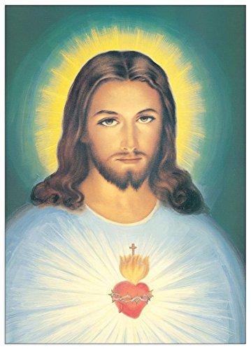 Artopweb Cristo S. Cuore di Gesù Pannello MDF, Legno, Bordo Nero