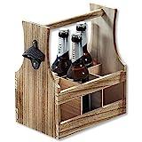 Kesper 69266 13 Flaschenträger, Holz, Braun -