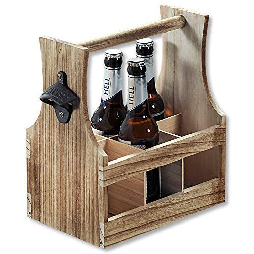 Kesper 69266 13 Flaschenträger, Holz, Braun