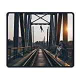 Smooth Mouse Pad Bridge Rock Climbing Mobile Gaming MousePad Work Mouse Pad Office Pad