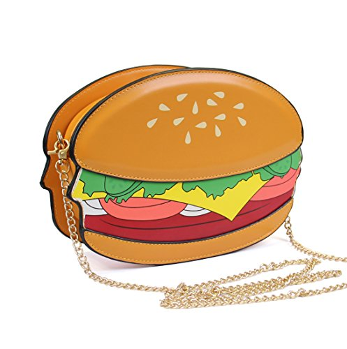LUI SUI, Borsa a tracolla donna giallo Hamburger Hamburger