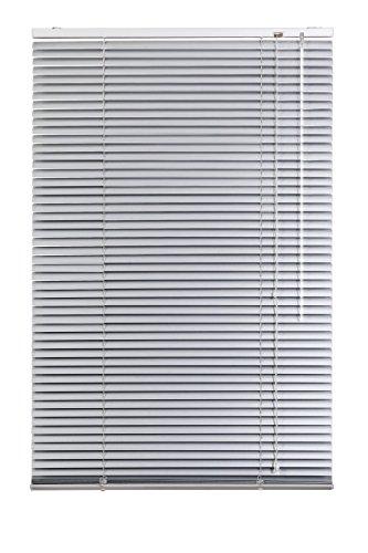 Lichtblick Jalousie Aluminium, 60 cm x 220 cm (B x L) in Silber, Sonnen- & Sichtschutz, aber auch Verdunkelungs-Rollo, für Fenster & Türen (Tür Silber)